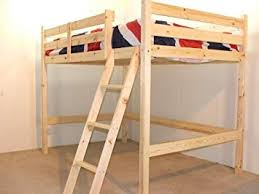 high double bed.  Double Double 4ft 6 Loft Bunkbed  Wooden High Sleeper Includes 20cm Thick  QUILTED Mattress Intended Bed G