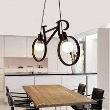 vintage iron bicycle shape chandeliers loft white black chandelier bedroom living room lamps bar pendant lights green pendant light from albert ng668