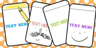 Editable Blank Flashcards Blank Flashcards Editable Activity