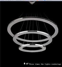 modern ring acrylic chandelier rings pendant led light ceiling lamp lighting