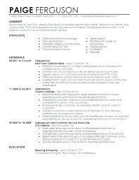 Cashier Sales Associate Resume Sample
