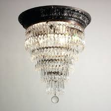 flush mount chandeliers sold stunning antique five tier flush mount chandelier with prisms c flush mount