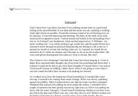 the graveyard gcse english marked by teachers com document image preview