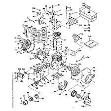 tecumseh 5 hp 4 cycle engine parts model h5065417l sears basic engine