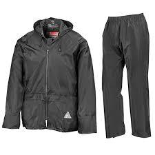 Result Mens Heavyweight <b>Waterproof Rain Suit</b> (<b>Jacket</b> & Trouser ...