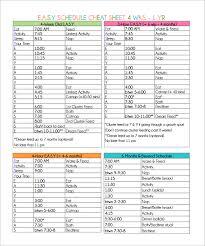 Monday Through Friday Calendar Template Preschool Schedule