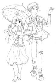 Small Picture awesome Anime Couple Coloring Pages Coloring Pages For Child