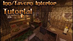 Minecraft Tavern Design Minecraft Interior Design Tavern Inn Tutorial
