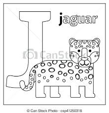 Letter J Animal Coloring Pages Jaguar Letter J Coloring Page Letter