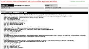 Jobs Sewing Machine Operator