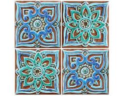 decorative tile with mandala design