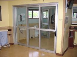 thumbnail of a telescopic manual sliding icu door