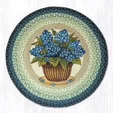 blue hydrangea 66 362bh round area rug 27x27