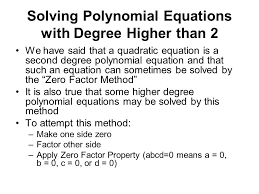 66 solving polynomial equations with degree higher than 2