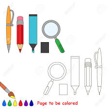 pen pencil marker and zoom to be colored the coloring book to educate