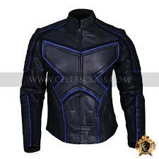 x men wolverine black and blue biker jacket