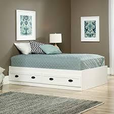 twin platform bed. Delighful Platform Amazoncom Sauder 418535 County Line Platform Bed Twin Soft White  Kitchen U0026 Dining Intended Twin Bed