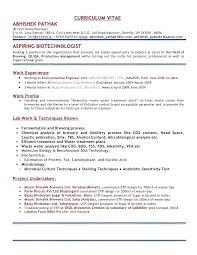 Biotech Resume Examples Biotech Resume Sample Mazard Info