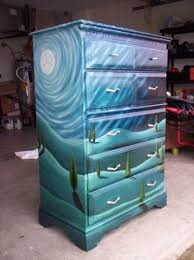 tropical painted furniture. this is rad iu0027d do a universe scene tropical painted furniture t