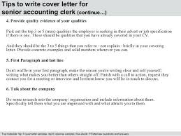 Sample Accounting Clerk Cover Letter Dew Drops