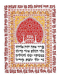 image of prayer for shabbat candles