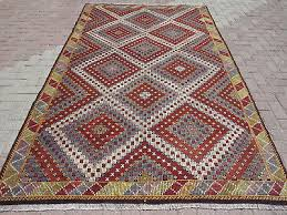 anatolia turkish kilim rug modern rug wool area rug 68 1 x112 9