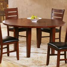Round Dining Table For 6 With Leaf Amazoncom Ameillia Round Dining Table Tables