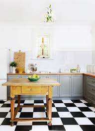 black and white tile floor kitchen. Classic Checkerboard Tile Is A Great Option For An Eclectic Retro Look Too. Black And White Floor Kitchen I