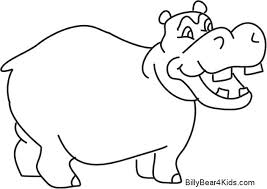 Hippo Coloring Pages Hippo Coloring Page Hippo Coloring Pages Baby