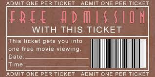 Movie Night Ticket Template Barca Fontanacountryinn Com