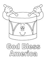 Small Picture God Bless America on Presidents Day Coloring Page Download