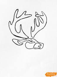 как нарисовать тату оленя и оленёнка карандашом поэтапно