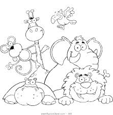 Printable Zoo Animal Coloring Pages M8144 Zoo Animals Coloring Page