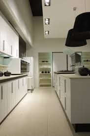 Modern Small Kitchen Kitchen Modern Small Kitchen Design Using White Galley Kitchen