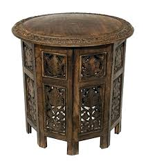 inch round decorator table wood composite side parsons 30 square coffee