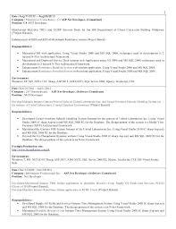 Net Developer Resume Examples Sample Software Samples Junior Unique Net Developer Resume