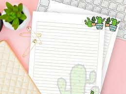 Downloadable Writing Paper For Kids Ruled Page Printable Etsy