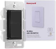 Honeywell Lighting Control Honeywell Add On In Wall Paddle Switch For Honeywell Smart Lighting Controls Only Not A Standalone Switch Black White Light Almond Paddles
