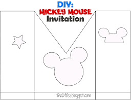 the290ss diy mickey mouse invitation paper i prefer card stock red turquoise yellow white and black glue ribbon black and polka dot yellow invitation get the pattern and the