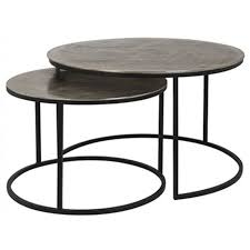 asher coffee table set of 2 champagne