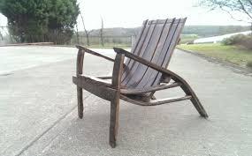 oak wine barrel chair