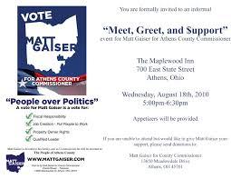 Political Fundraising Invitations Fundraising Invite Template Zoro Braggs Co