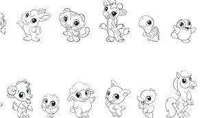 Coloring Pages Cute Baby Animals Cute Animal Coloring Pages Page
