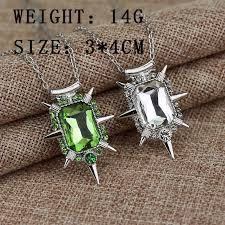 new zelena the wicked witch green crystal pendant necklace once upon a time