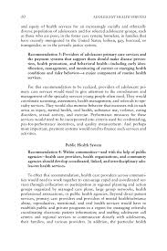 Summary Adolescent Health Services Missing Opportunities The