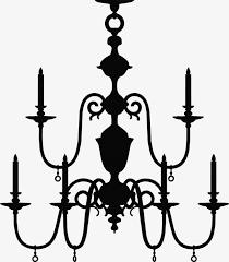 chandelier black euporean pattern cartoon chandelier png image and clipart