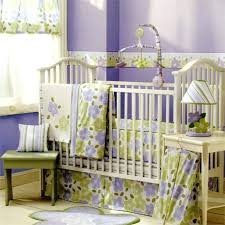 flower baby bedding sets unique baby girl bedding themes purple cotton baby bedding sets green painted