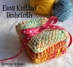 Easy Knit Dishcloth Pattern Mesmerizing Easy Knit Dishcloth