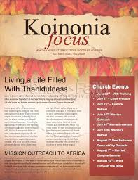 Come With Thanksgiving Christian Newsletter Template