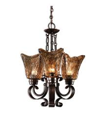 uttermost 21008 vetraio 3 light 16 inch oil rubbed bronze chandelier ceiling light
